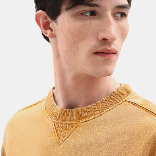 Mad River Crew Neck Sweatshirt for Men in Yellow | Timberland