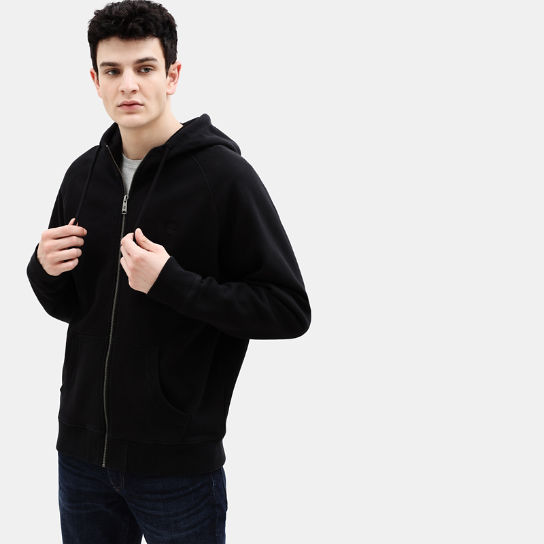 Exeter River Zip Up Hoodie for Men in Black | Timberland