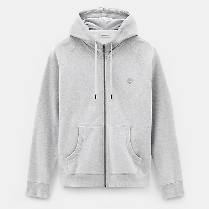 Exeter River Zip Up Hoodie for Men in Grey-