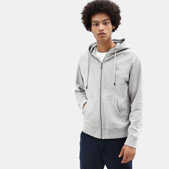 Exeter River Zip Up Hoodie for Men in Grey | Timberland