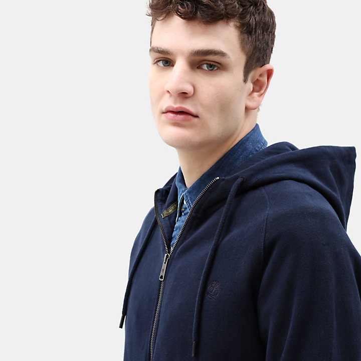 Exeter River Zip Up Hoodie for Men in Navy-
