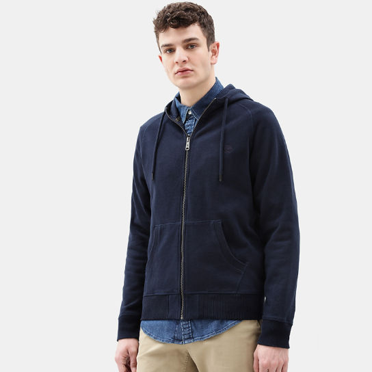Exeter River Zip Up Hoodie for Men in Navy | Timberland