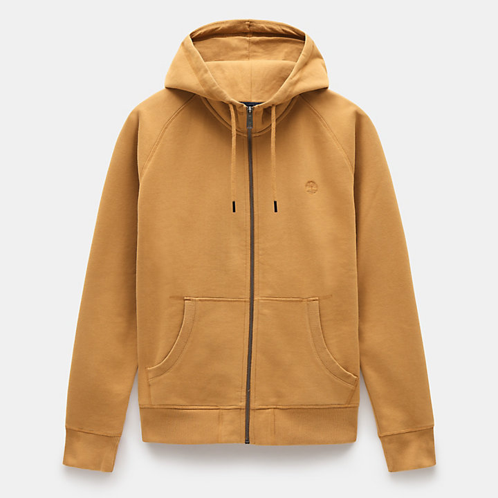 Exeter River Zip Up Hoodie for Men in Yellow-