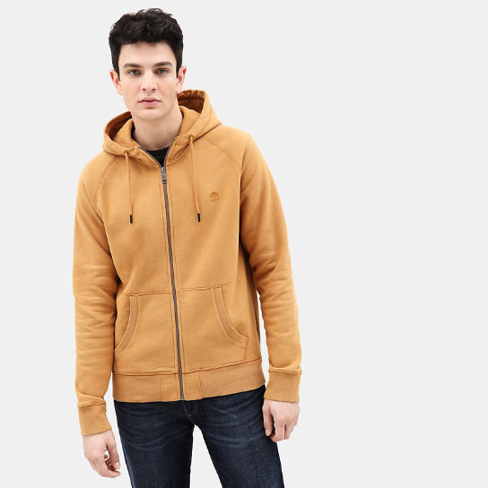 Exeter River Zip Up Hoodie for Men in Yellow | Timberland