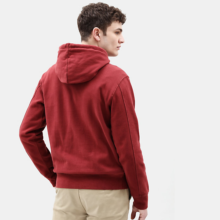 Taylor River Hoodie for Men in Red-