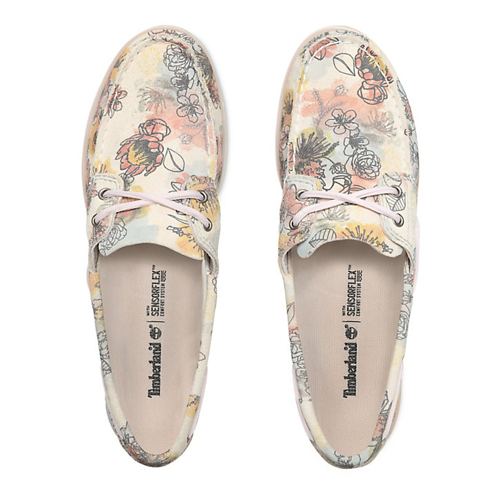 Camden Falls Boat Shoe for Women in Floral-