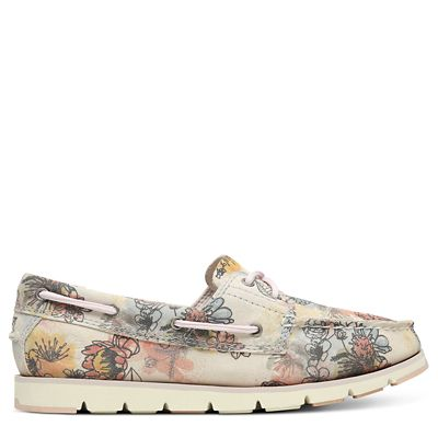 Camden+Falls+Boat+Shoe+for+Women+in+Floral