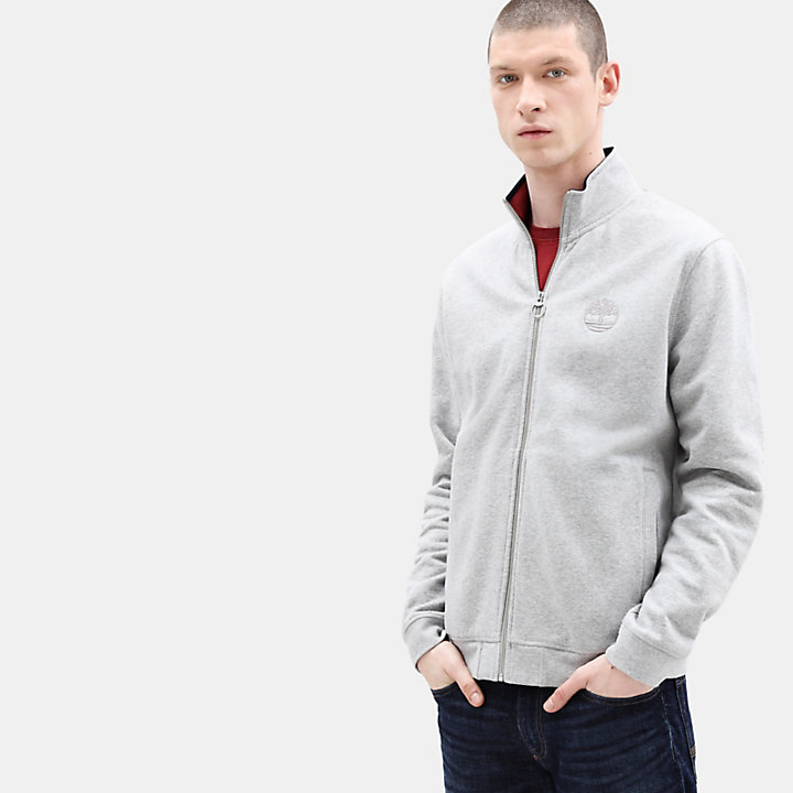 Taylor River Zip Up Top for Men in Grey-