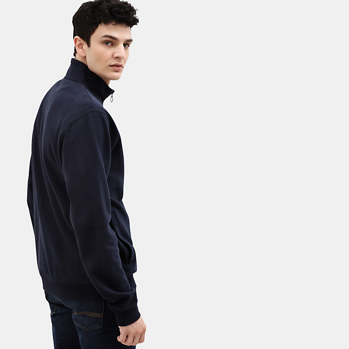 Taylor River Zip Up Top for Men in Navy-