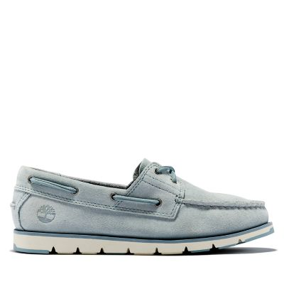 Camden+Falls+Boat+Shoe+for+Women+in+Light+Blue