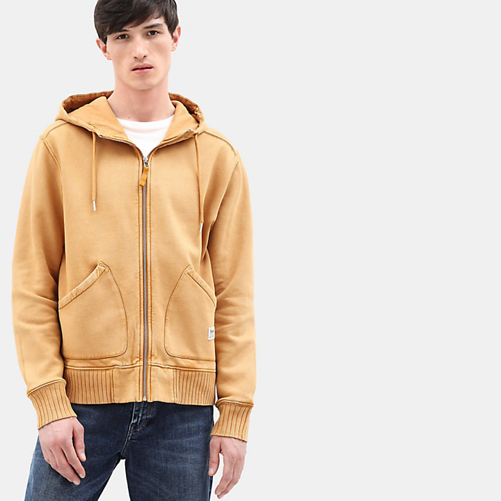 Sweat à capuche Mad River pour homme en jaune-