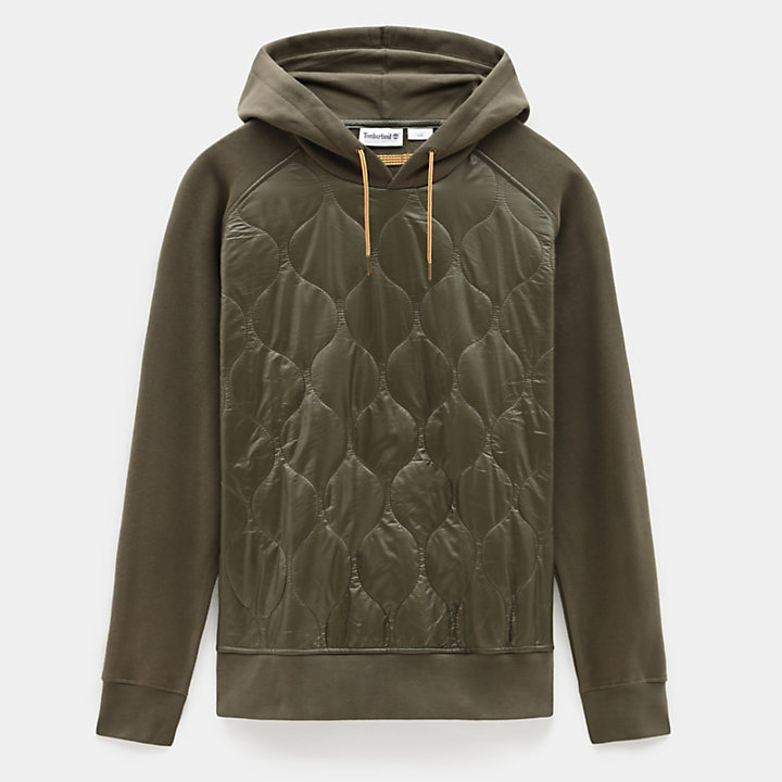 Heritage Quilted Hoodie for Men in Beige-