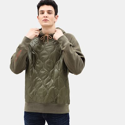 Heritage+Quilted+Hoodie+for+Men+in+Beige