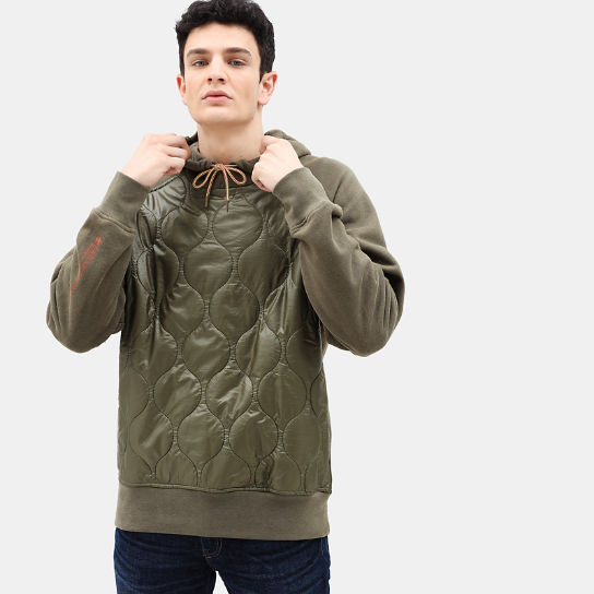 Heritage Quilted Hoodie for Men in Beige | Timberland
