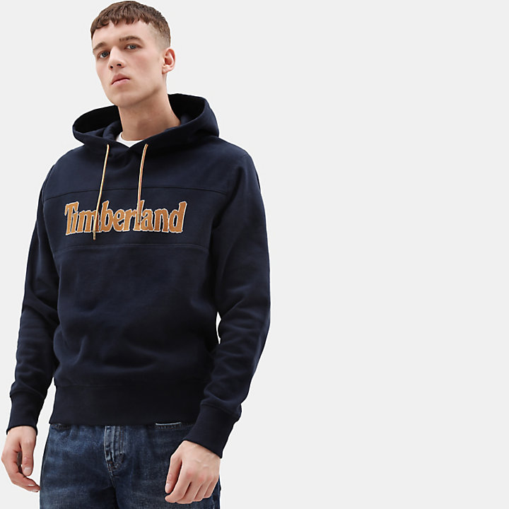 Connecticut River Logo Hoodie for Men in Navy-