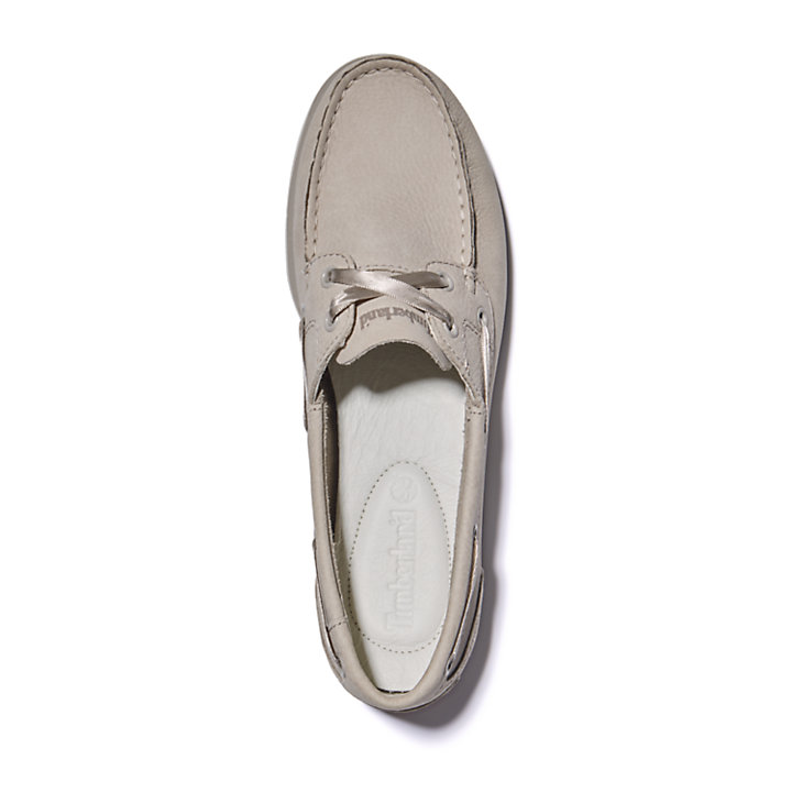 Classic Unlined Boat Shoe for Women in Taupe-
