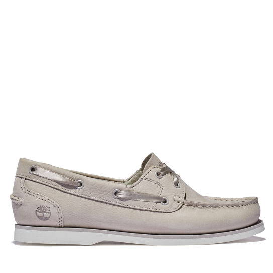 Classic Unlined Boat Shoe for Women in Taupe | Timberland