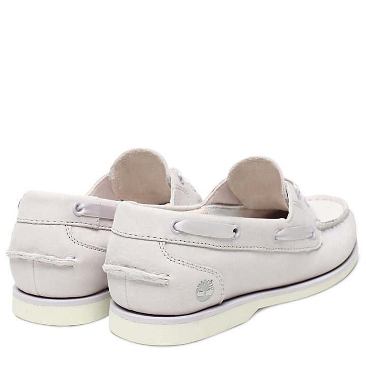 Classic Unlined Boat Shoe for Women in Mauve-