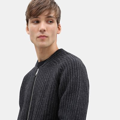 Phillips+Brook+Lambswool+Zip+Sweater+for+Men+in+Grey
