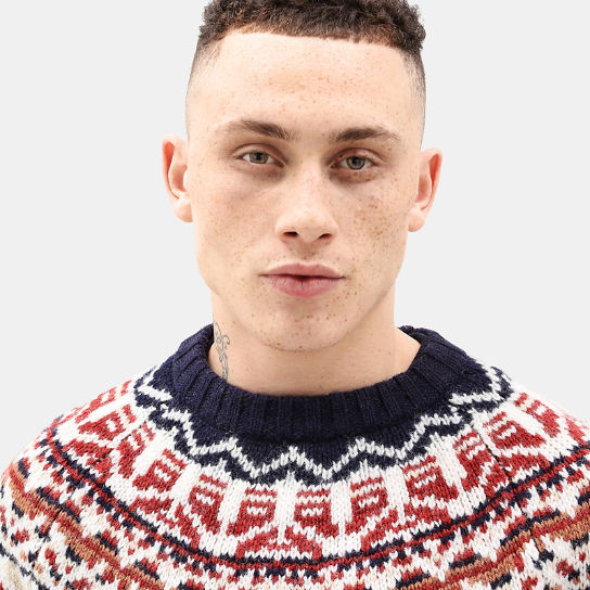 Fair Isle Wool Jumper for Men in Navy | Timberland