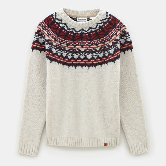 Fair Isle Wollen Trui voor Heren in wit | Timberland