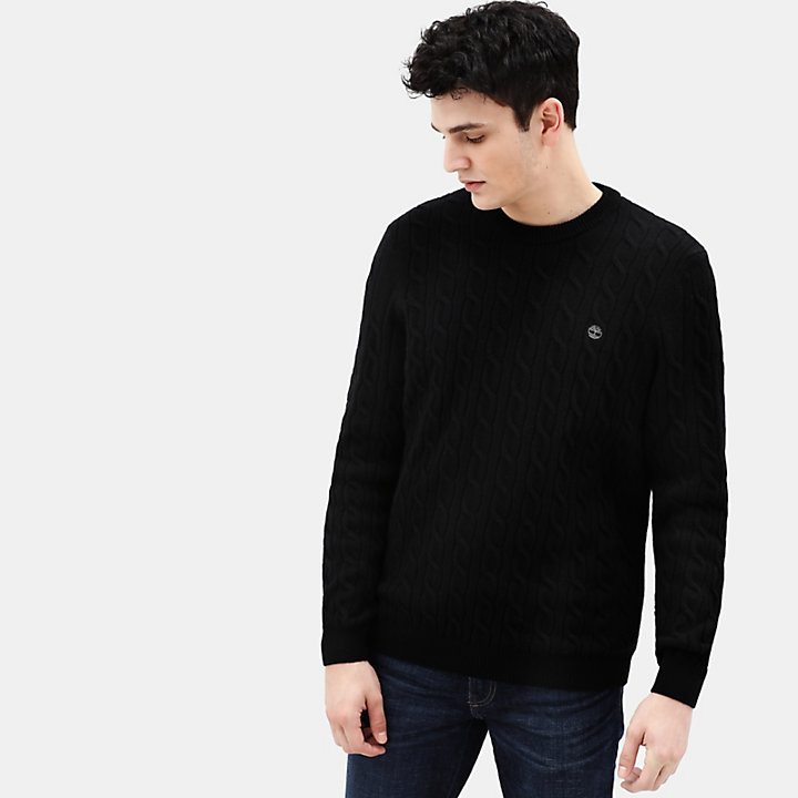 Phillips Brook Cable Sweater for Men in Black-