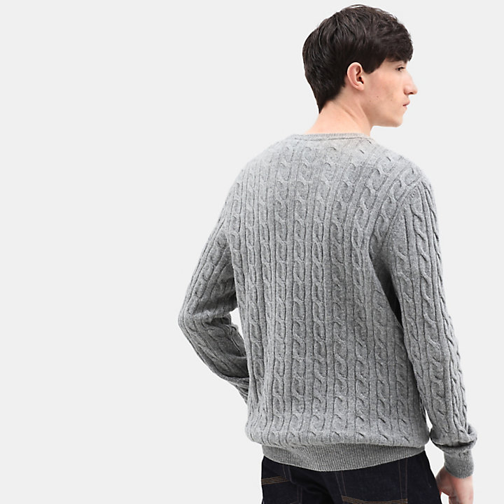 Phillips Brook Cable Sweater for Men in Grey-