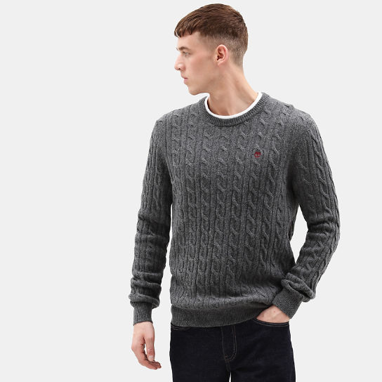 Phillips Brook Cable Sweater for Men in Dark Grey | Timberland