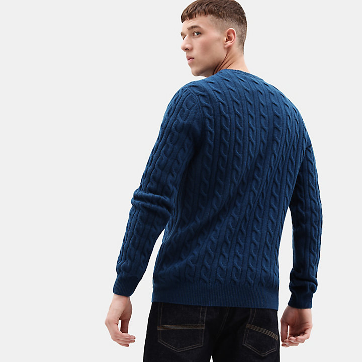 Phillips Brook Cable Sweater for Men in Teal-