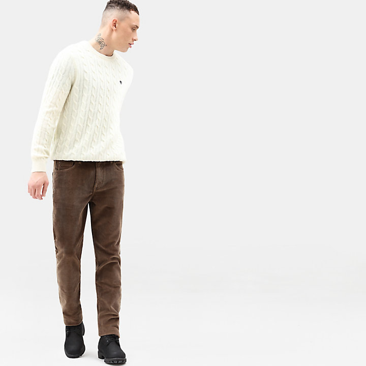 Phillips Brook Strickpullover für Herren in Creme-
