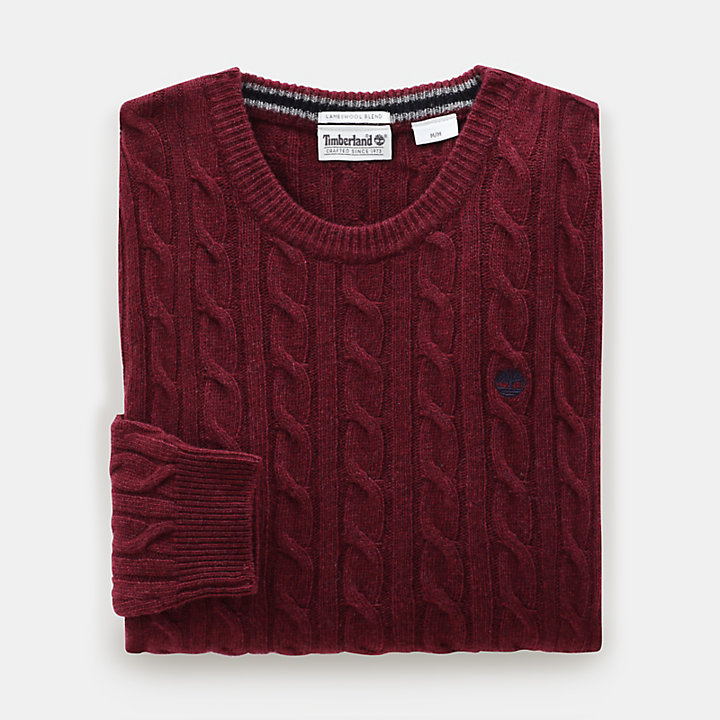 Phillips Brook Cable Sweater for Men in Red-