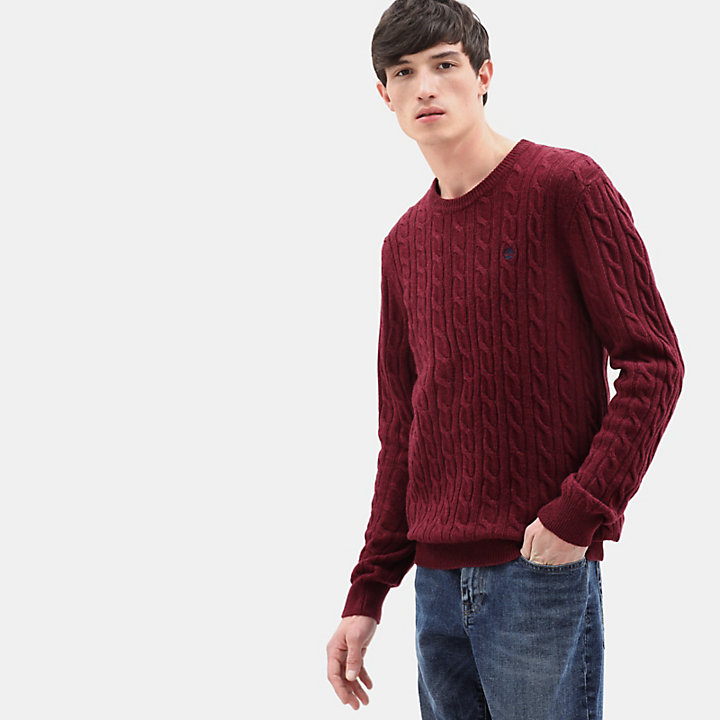 Phillips Brook Strickpullover für Herren in Rot-