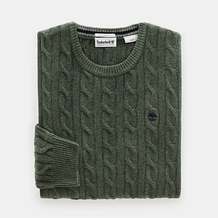 Phillips Brook Cable Sweater for Men in Green-
