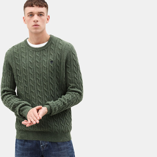 Phillips Brook Cable Sweater for Men in Green | Timberland