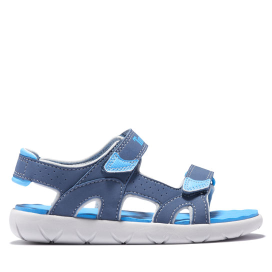 Perkins Row Strappy Sandal for Youth in Dark Blue | Timberland