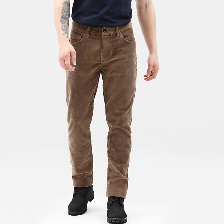 Squam Lake Corduroy Trousers for Men in Beige-