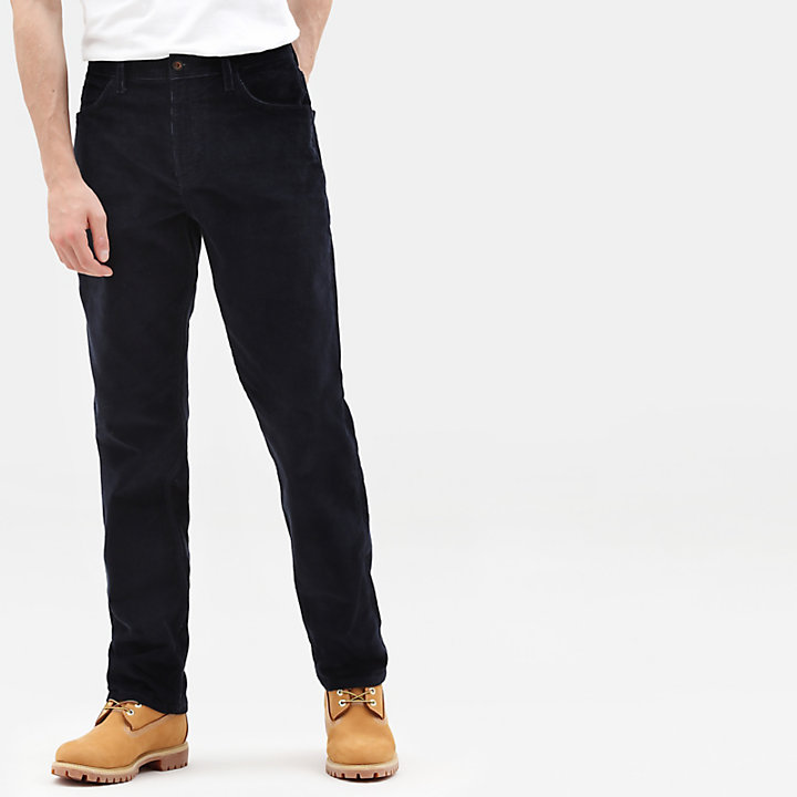 Squam Lake Corduroy Trousers for Men in Navy-