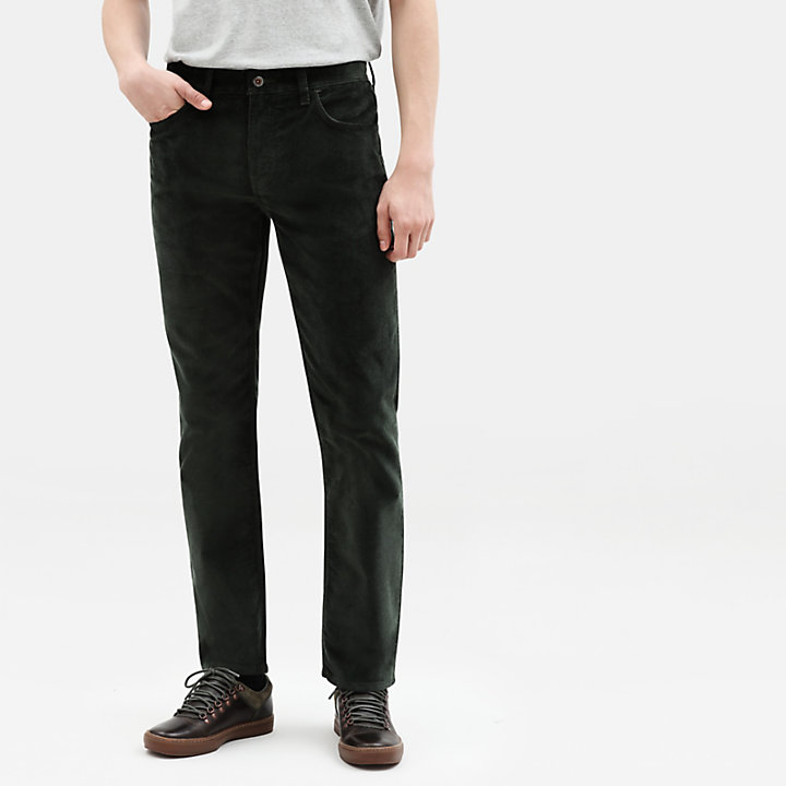 Squam Lake Corduroy Trousers for Men in Dark Green-