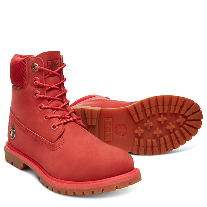 6 Inch Boot Fire for Women in Red-