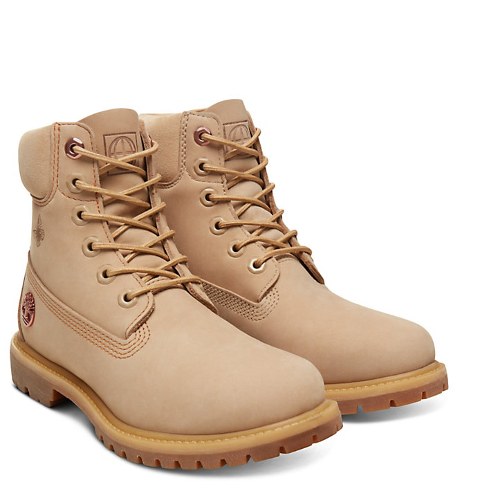 6 Inch Boot Earth for Women in Beige-