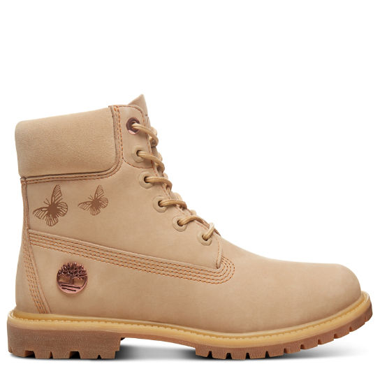 Elements Earth 6-Inch-Damenstiefel in Beige | Timberland