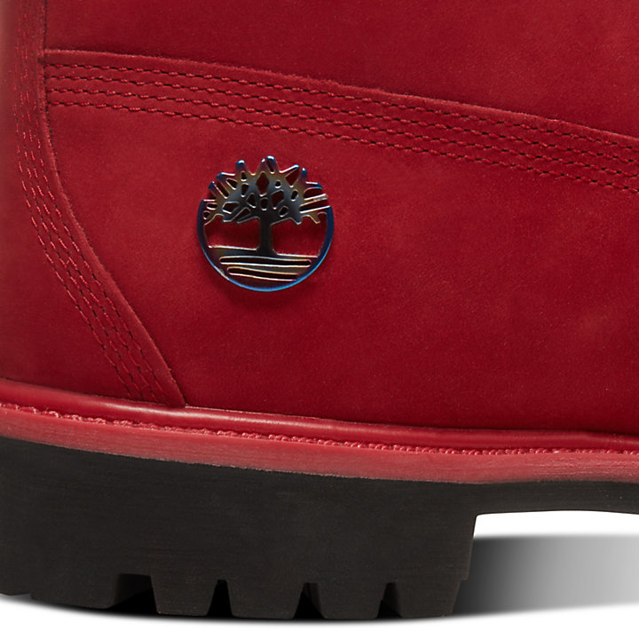 6 Inch Boot Fire for Men in Red-