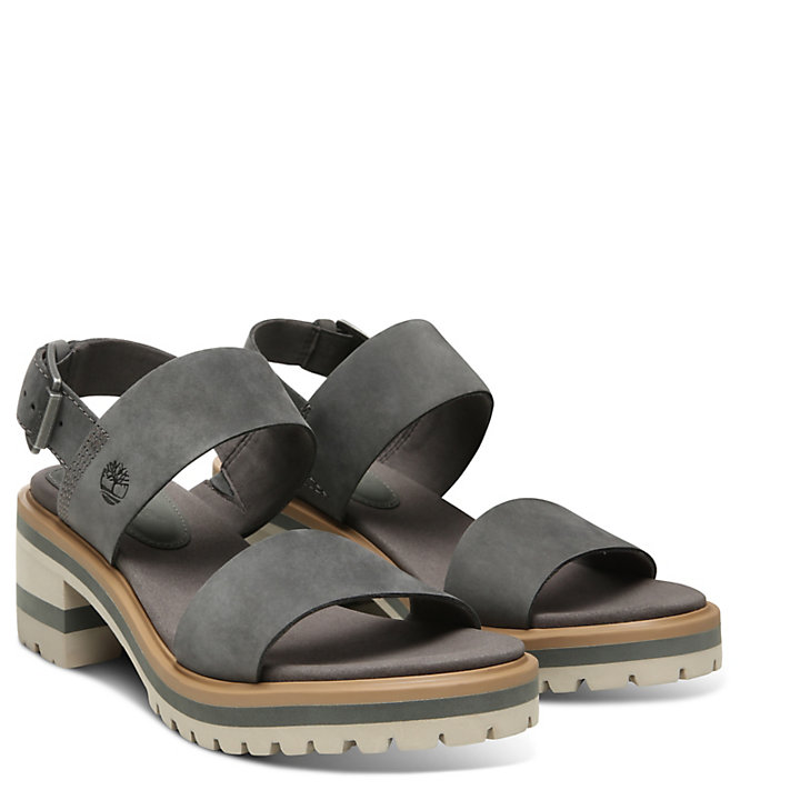 Violet Marsh Strap Sandal for Women in Dark Grey-