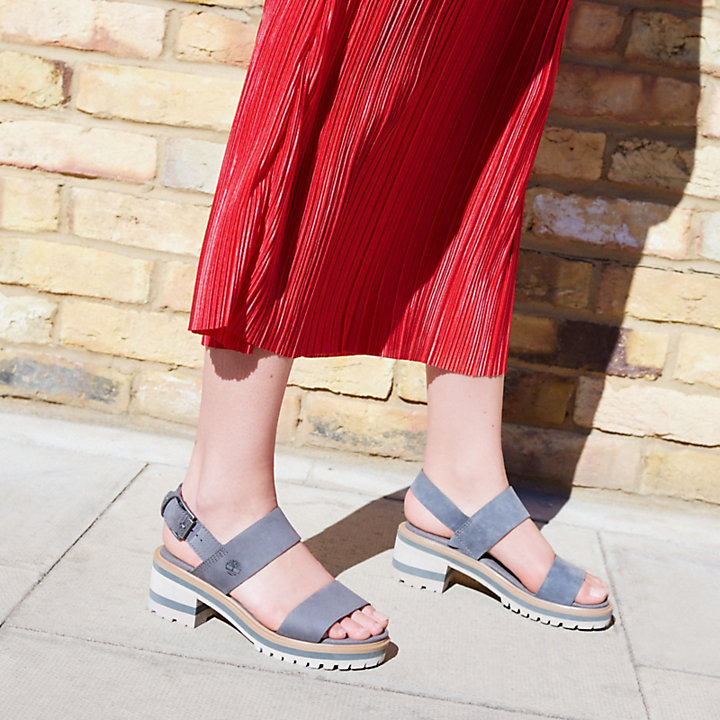 Violet Marsh Strap Sandal for Women in Dark Grey
