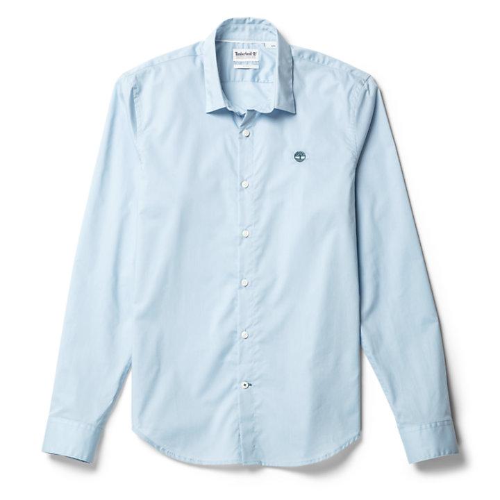 Suncook River Easy-Iron Cotton Overhemd voor Heren in blauw-