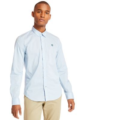 Suncook+River+Non-Iron+Shirt+for+Men+in+Light+Blue