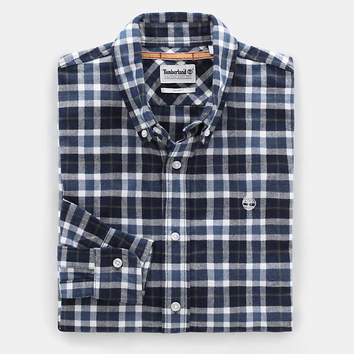 Camisa a Cuadros Escoceses Back River para Hombre en azul marino-