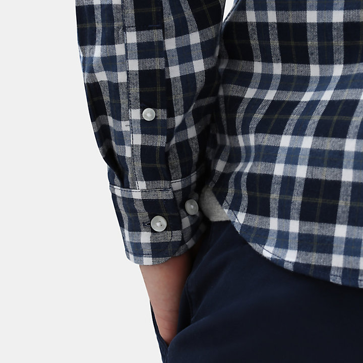 Chemise tartan Back River pour homme en bleu marine-