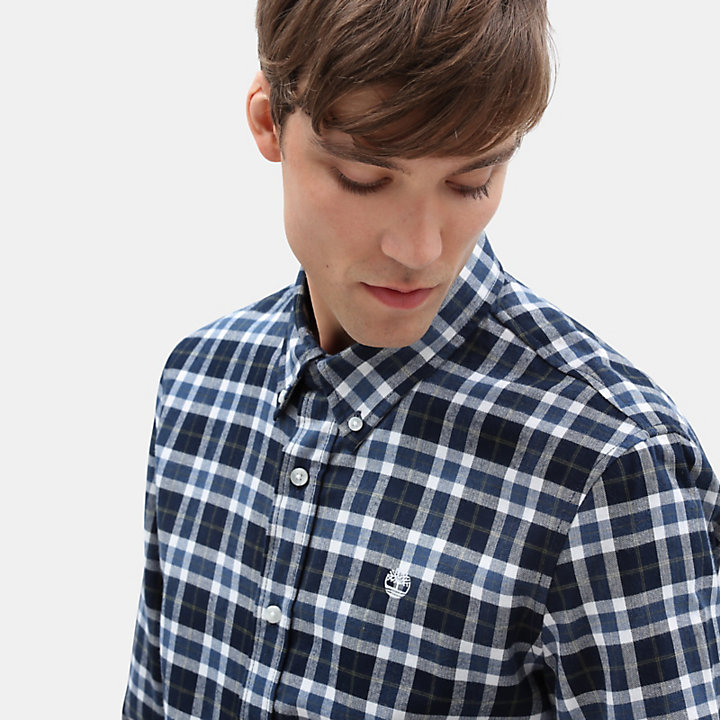 Back River Tartan Shirt for Men in Navy-
