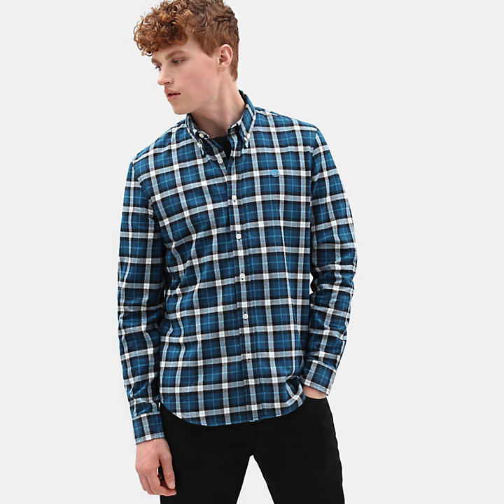 Back River Tartan Shirt for Men in Blue-